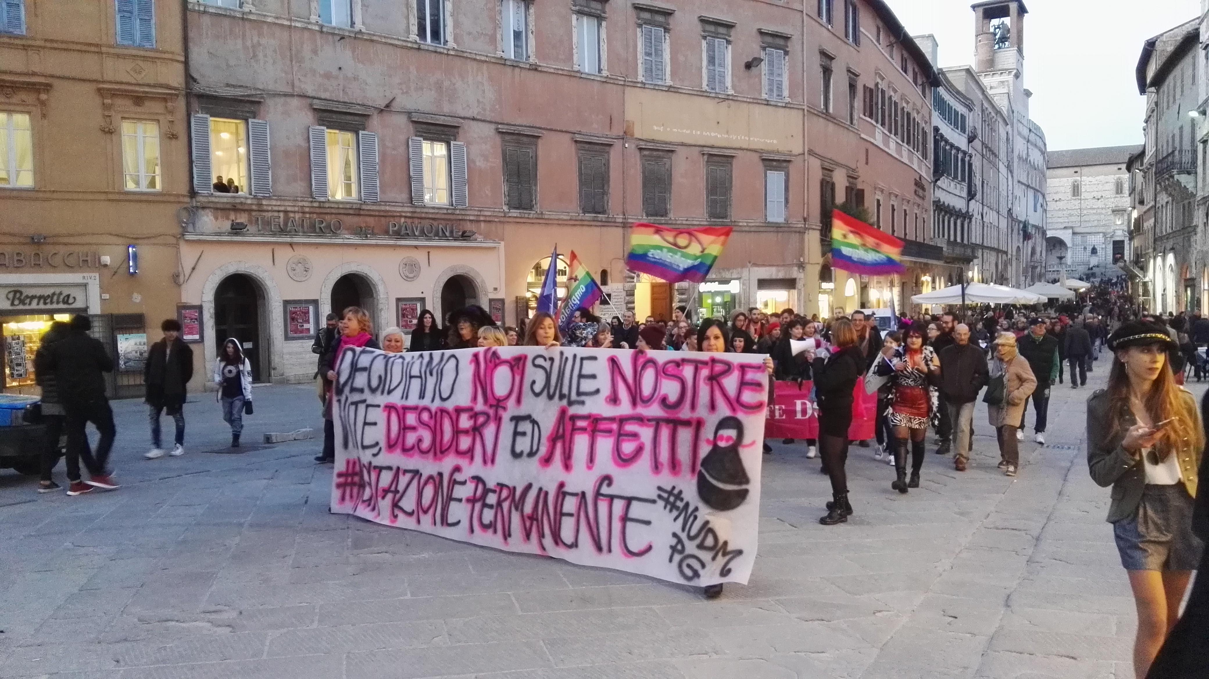 Manifestazione PD Trasimeno e PD Perugia contro ddl Pillon