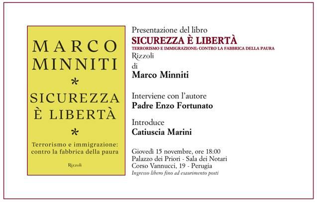 Minniti a Perugia