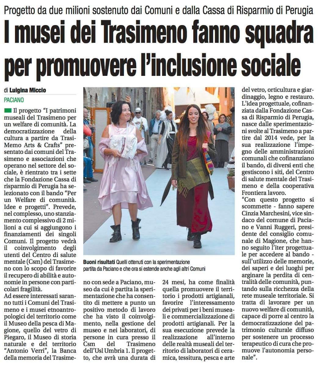 Il progetto dei Musei del Trasimeno finanziato Fondazione Cassa di Risparmio di Perugia