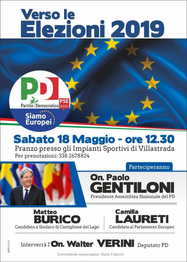 Elezioni europee PD Trasimeno - pranzo a villastrada