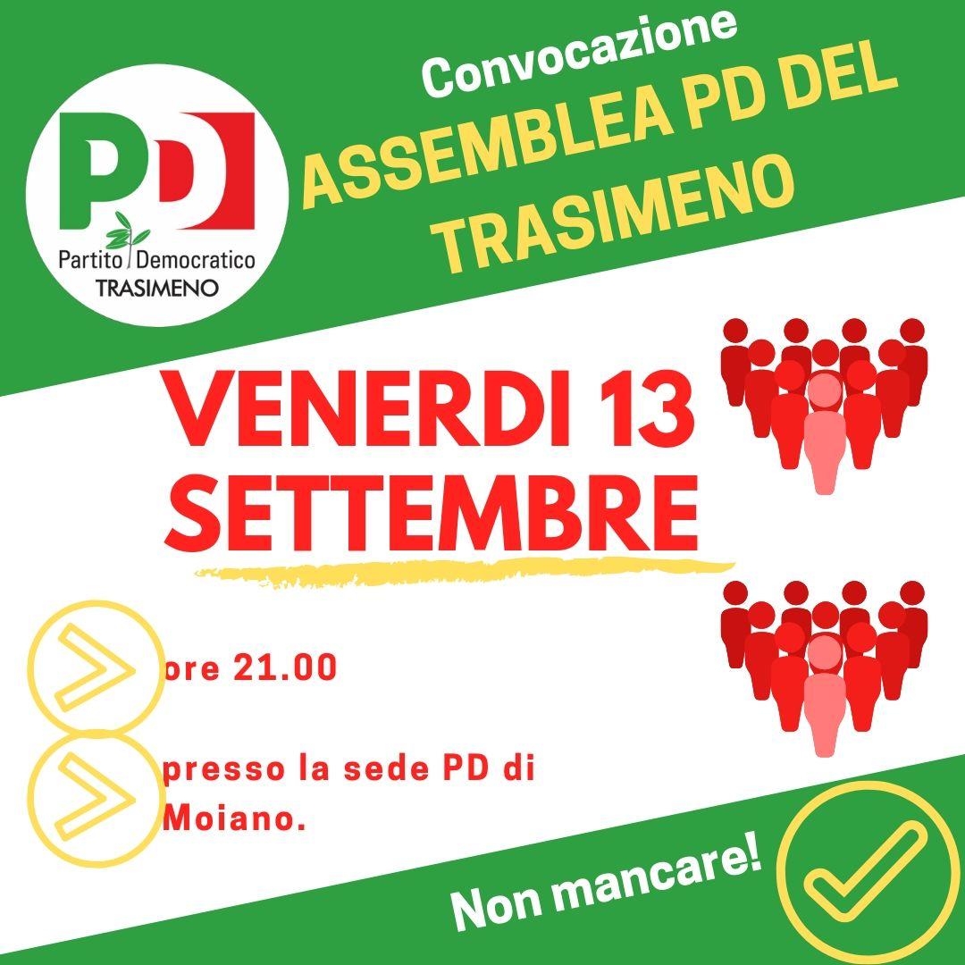 Assemblea PD Trasimeno 13 settembre 2019