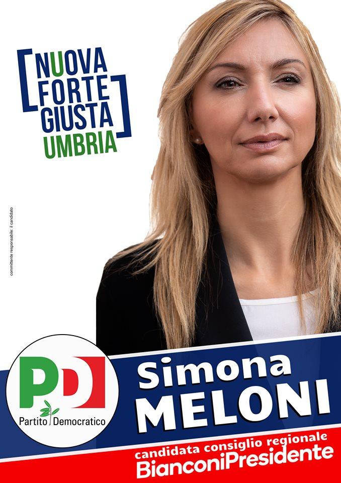 Simona Meloni per l'Umbria