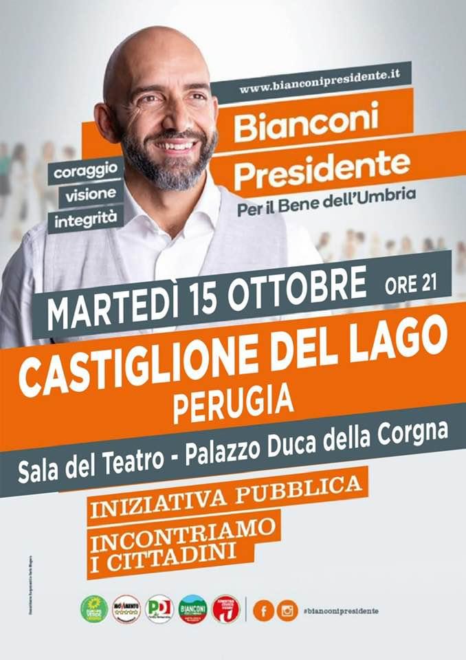 Vincenzo Bianconi a Castiglione del lago