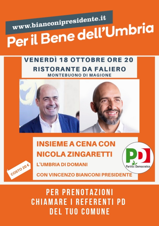 Cena Zingaretti e Bianconi da Faliero!